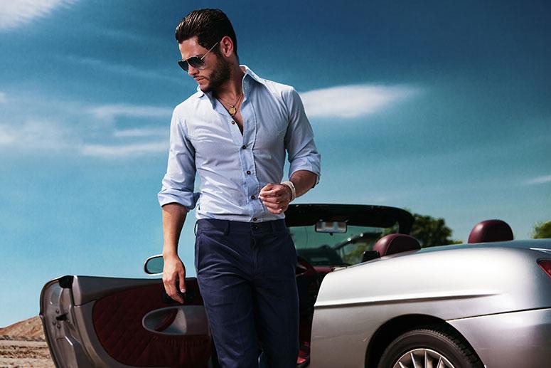 Camicie da uomo slim fit rendono le camicie più eleganti